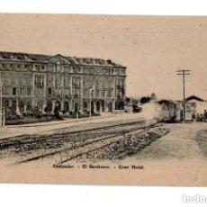 Postales: SANTANDER.- EL SARDINERO. GRAN HOTEL. TRANVÍA. HACIA 1910.. Lote 132038642