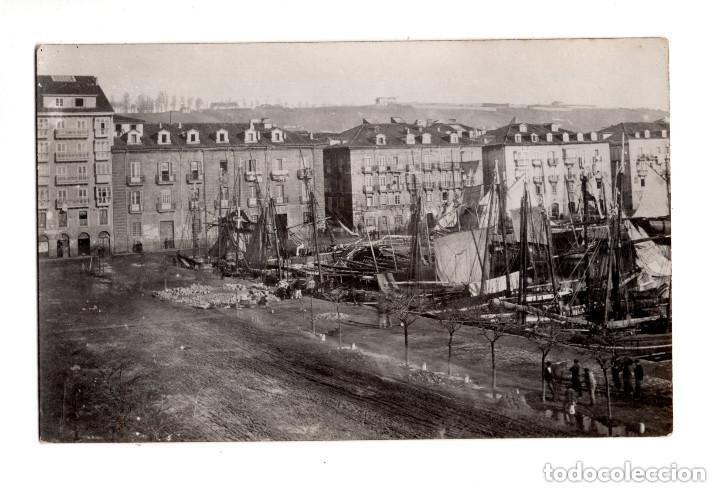 SANTANDER.- MUELLE DE ANAOS 1873. DARSENA FRENTE ADUANA (Postales - España - Cantabria Antigua (hasta 1.939))