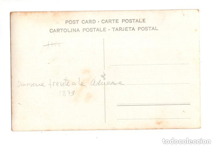 Postales: SANTANDER.- MUELLE DE ANAOS 1873. DARSENA FRENTE ADUANA - Foto 2 - 132038758
