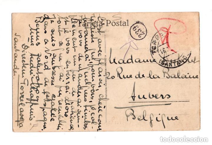 Postales: SANTANDER.- COLEGIO CÁNTABRO. CAMPO DE FUTBOL CON SU PABELLON. HELIOTIPIA ARTISTICA IBERICA - Foto 2 - 132038870