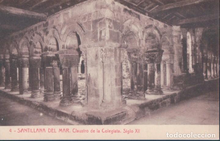 POSTAL SANTILLANA DEL MAR 4 - CLAUSTRO DE LA COLEGIATA - SIGLO XII - THOMAS (Postales - España - Cantabria Antigua (hasta 1.939))