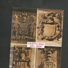 Postales: POSTAL SIN CIRCULAR - SANTILLANA DEL MAR 305 - SANTANDER - BLASONES DE SANTILLANA - EDITA BUSTAMANTE. Lote 133491038