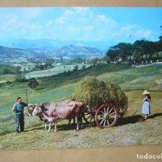 Postales: CANTABRIA - PAISAJE MONTAÑÉS. CARRETA TÍPICA (ESCRITA). Lote 133754094