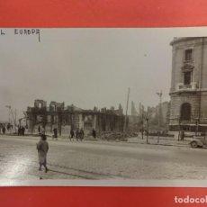 Postales: SANTANDER. INCENDIO 1941. POSTAL FOTOGRÁFICA. HOTEL EUROPA. Lote 133817422