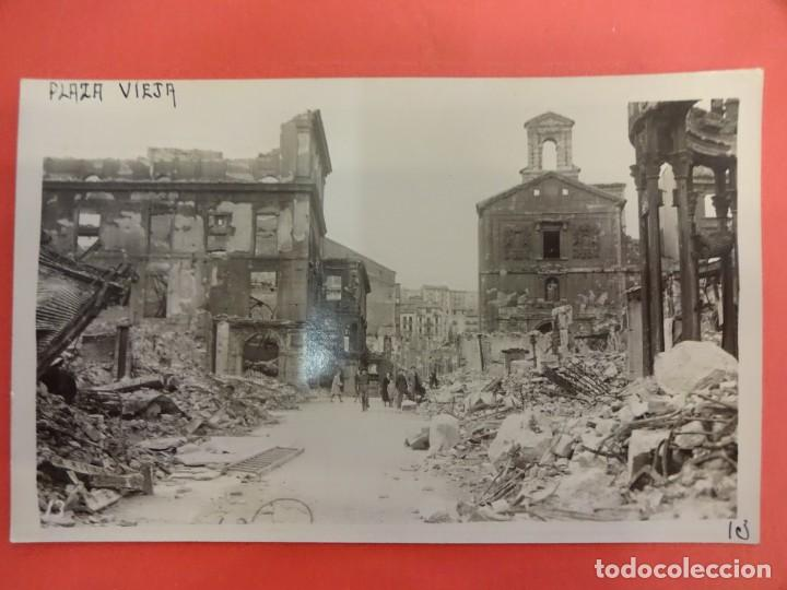 SANTANDER. INCENDIO 1941. POSTAL FOTOGRÁFICA. PLAZA VIEJA (Postales - España - Cantabria Moderna (desde 1.940))