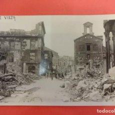 Postales: SANTANDER. INCENDIO 1941. POSTAL FOTOGRÁFICA. PLAZA VIEJA. Lote 133817478