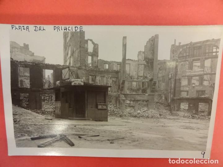SANTANDER. INCENDIO 1941. POSTAL FOTOGRÁFICA. PLAZA DEL PRÍNCIPE (Postales - España - Cantabria Moderna (desde 1.940))
