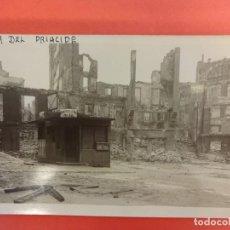 Postales: SANTANDER. INCENDIO 1941. POSTAL FOTOGRÁFICA. PLAZA DEL PRÍNCIPE. Lote 133817766