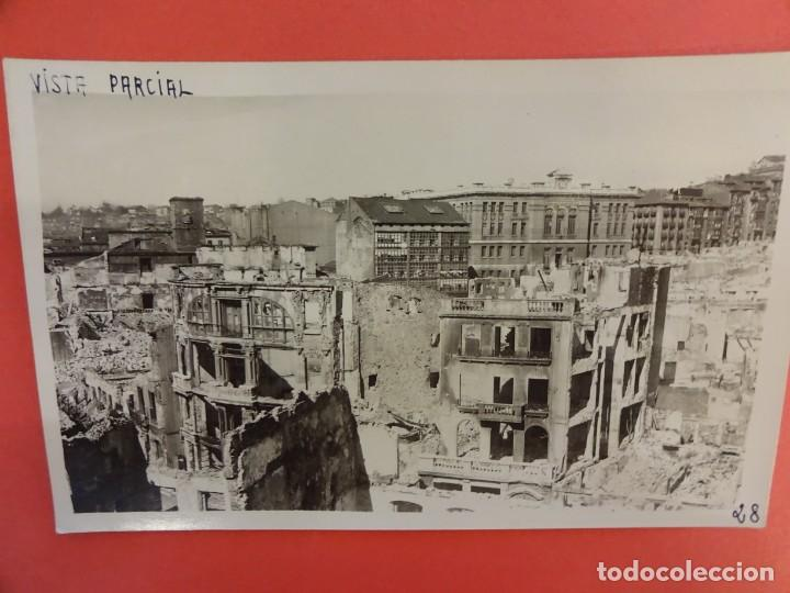 SANTANDER. INCENDIO 1941. POSTAL FOTOGRÁFICA. VISTA PARCIAL (Postales - España - Cantabria Moderna (desde 1.940))