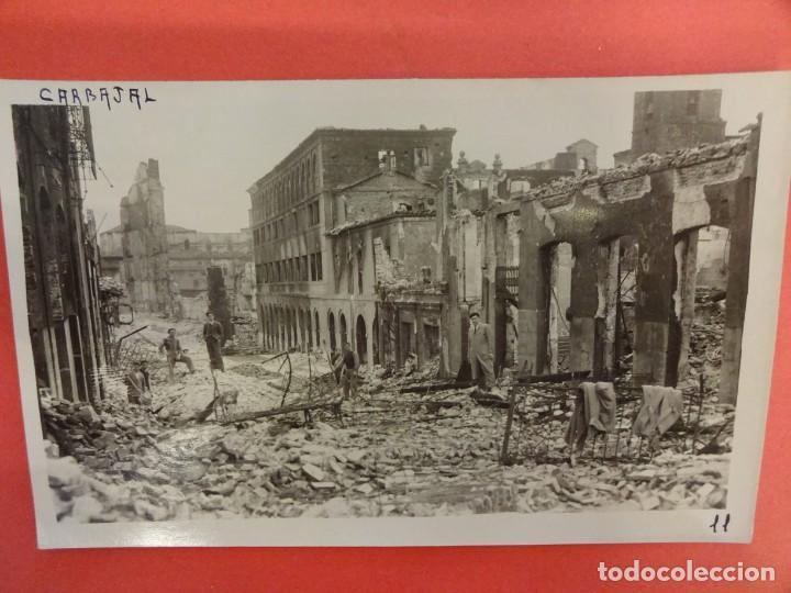 SANTANDER. INCENDIO 1941. POSTAL FOTOGRÁFICA. CARBAJAL (Postales - España - Cantabria Moderna (desde 1.940))