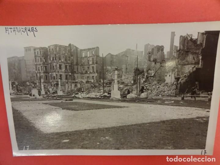 SANTANDER. INCENDIO 1941. POSTAL FOTOGRÁFICA. ATARAZANAS (Postales - España - Cantabria Moderna (desde 1.940))