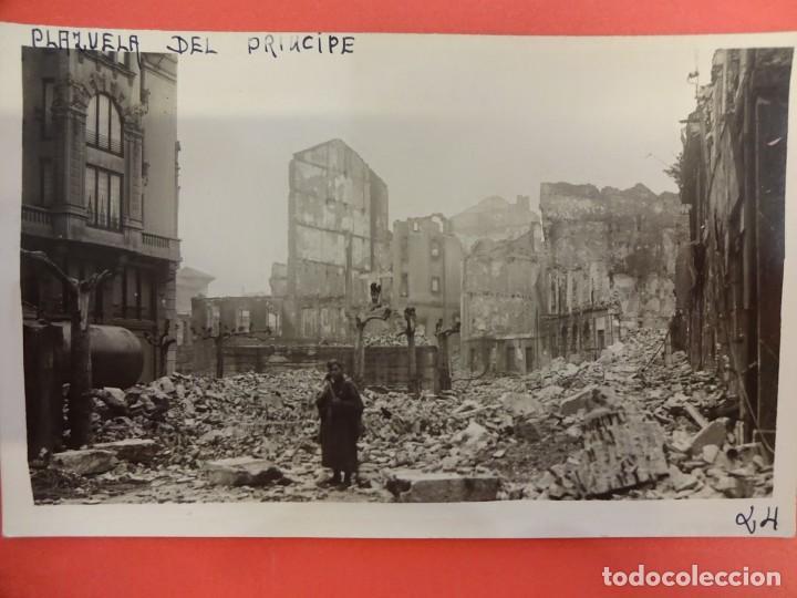 SANTANDER. INCENDIO 1941. POSTAL FOTOGRÁFICA. PLAZUELA DEL PRÍNCIPE (Postales - España - Cantabria Moderna (desde 1.940))