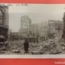Postales: SANTANDER. INCENDIO 1941. POSTAL FOTOGRÁFICA. PLAZUELA DEL PRÍNCIPE. Lote 133818114