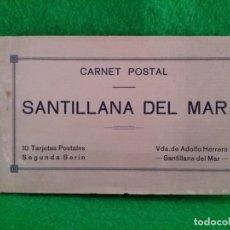 Postales: 10 TARJETAS POSTALES DE SANTILLANA DEL MAR 2 SERIE ADOLFO HERRERO. Lote 133852026
