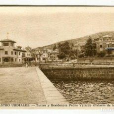 Postales: CASTRO URDIALES (CANT.) TORRES Y RESIDENCIA PEDRO VELARTE (PALACIO DE LA DERECHA) L. ROSIN ECRITA S. Lote 134534902
