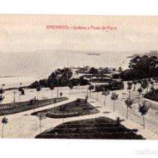 Postales: SANTANDER. (CANTABRIA).- SARDINERO.- JARDINES Y PASEO DE PIQUIO. Lote 135131466