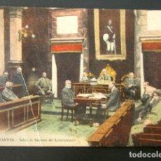 Cartes Postales: POSTAL CANTABRIA. SANTANDER. SALÓN DE SESIONES DEL AYUNTAMIENTO. . Lote 135132090