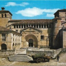 Postales: == PJ1309 - POSTAL - SANTILLANA DEL MAR - REAL COLEGIATA - FACHADA. Lote 135536562