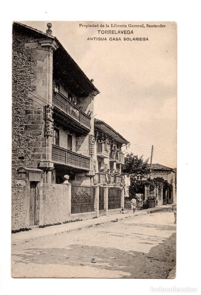TORRELAVEGA.(CANTABRIA).- ANTIGUA CASA SOLARIEGA, PROPIEDAD DE LA LIBRERIA GENERAL. (Postales - España - Cantabria Antigua (hasta 1.939))