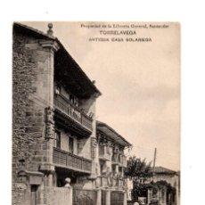 Postales: TORRELAVEGA.(CANTABRIA).- ANTIGUA CASA SOLARIEGA, PROPIEDAD DE LA LIBRERIA GENERAL.. Lote 135588874