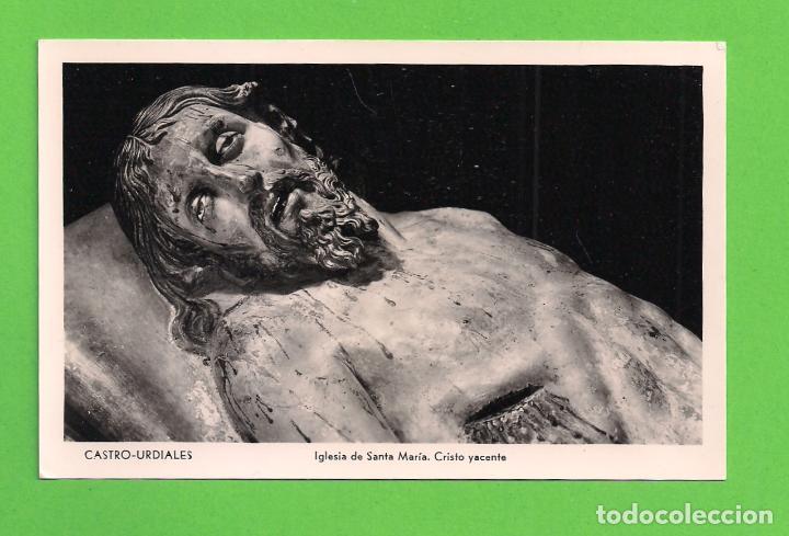 POSTAL - IGLESIA DE SANTA MARÍA - CASTRO-URDIALES. (Postales - España - Cantabria Moderna (desde 1.940))