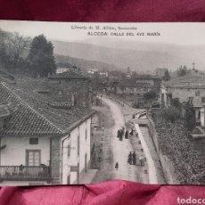 Postales: ALCEDA (CANTABRIA), CALLE DEL AVE MARÍA.. Lote 137981324