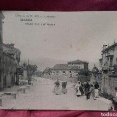 Postales: ALCEDA (CANTABRIA), PASEO DEL AVE MARÍA.. Lote 137982226