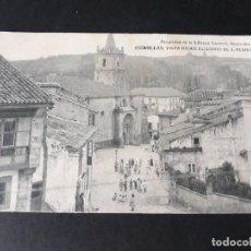 Postales: COMILLAS CANTABRIA VISTA DESDE EL CORTO DE SAN PEDRO. Lote 138131274