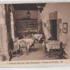 Postales: SANTILLANA DEL MAR. PARADOR DE GIL BLAS. BAR. FOTOS Y ED A REDÓN. TORRELAVEGA.. Lote 139333986