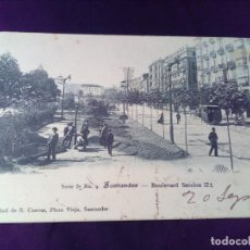Postales: POSTAL SANTANDER BOULEVARD SERIE I N° 9 S.CUEVAS PRIMERA ÉPOCA. Lote 139536558