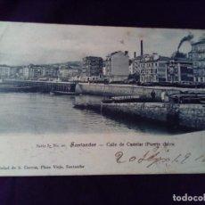 Postales: POSTAL SANTANDER CALLE DE CASTELAR (PUERTO CHICO) SERIE I N° 10 S.CUEVAS PRIMERA ÉPOCA. Lote 139536866