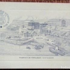 Postales: REAL COMPAÑIA ASTURIANA DE MINAS - FABRICA DE HINOJEDO - SANTANDER. Lote 140369754