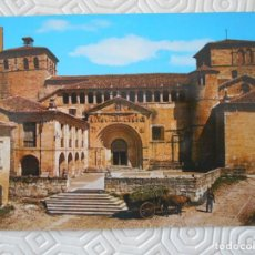 Postales: SANTILLANA DEL MAR. CANTABRIA. REAL COLEGIATA. FACHADA. SIGLO XII. TARJETA POSTAL.. Lote 140474030