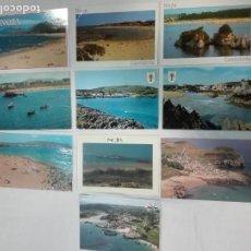 Postales: LOTE DE 10 POSTALES DE NOJA/ISLA,(CANTABRIA)CIRCULADAS Y SIN CIRCULAR, ANTIGUAS Y NUEVAS. Lote 142166194