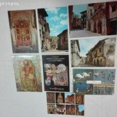 Postales: LOTE DE 8 POSTALES DE SANTILLANA DEL MAR, (CANTABRIA) SIN CIRCULAR, ANTIGUAS Y NUEVAS. Lote 142166358