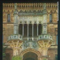 Postales: COMILLAS. *PALACIO MARQUÉS DE COMILLAS, ENTRADA* ED. G. GARRABELLA-ZGZ Nº 132. NUEVA.. Lote 143406874