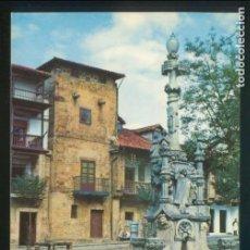 Postales: COMILLAS. *FUENTE DE TRES CAÑOS Y CALLE DE LOS ARZOBISPOS* ED. FOTO IMPERIO. NUEVA.. Lote 143410954