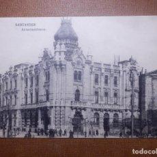 Postales: TARJETA POSTAL - SANTANDER - AYUNTAMIENTO - HAUSER Y MENET - SIN CIRCULAR. Lote 143856598