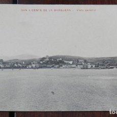Postales: ANTIGUA POSTAL DE SAN VICENTE DE LA BARQUERA, CANTABRIA, VISTA GENERAL, PROPIEDAD MANUEL CASTRO, NO . Lote 145419842