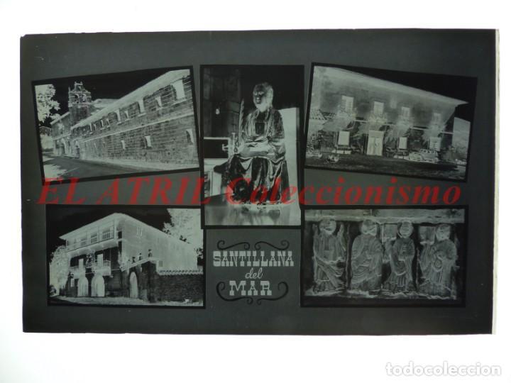 Postales: 1 CLICHE ORIGINAL - SANTILLANA DEL MAR - NEGATIVO EN CRISTAL - EDICIONES ARRIBAS - Foto 2 - 145481078