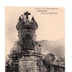 Postales: LIÉRGANES.(CANTABRIA).- CRUZ DE RUBALCAVA. LIBRERIA DE M. ALBIRA. Lote 146089162