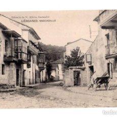 Postales: LIÉRGANES.(CANTABRIA).- MERCADILLO. LIBRERIA DE M. ALBIRA. Lote 146090230