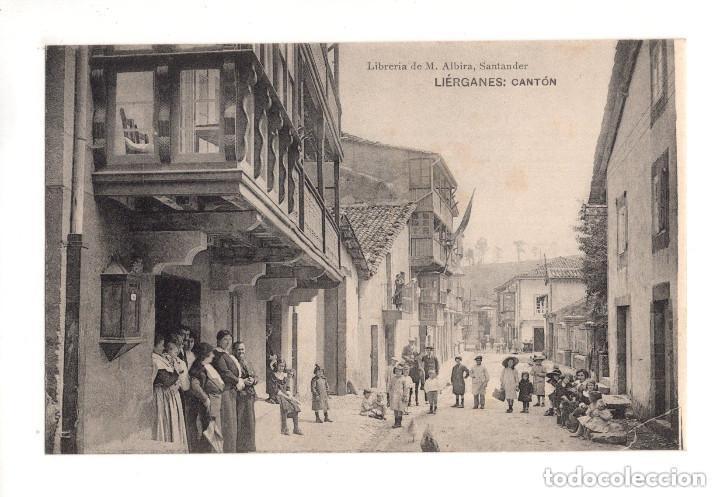 LIÉRGANES.(CANTABRIA).- CANTÓN. LIBRERIA DE M. ALBIRA (Postales - España - Cantabria Antigua (hasta 1.939))