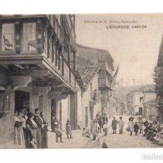 Postales: LIÉRGANES.(CANTABRIA).- CANTÓN. LIBRERIA DE M. ALBIRA. Lote 146090478