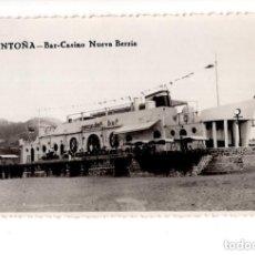 Postales: SANTOÑA.(CANTABRIA).- BAR-CASINO. NUEVA BERRIA. Lote 146102206