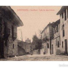 Postales: SANTILLANA.(SANTANDER).- CALLE DE JUAN INFANTE. Lote 146106362