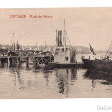 Postales: SANTANDER.- MUELLE DE MALIAÑO. Lote 146107650