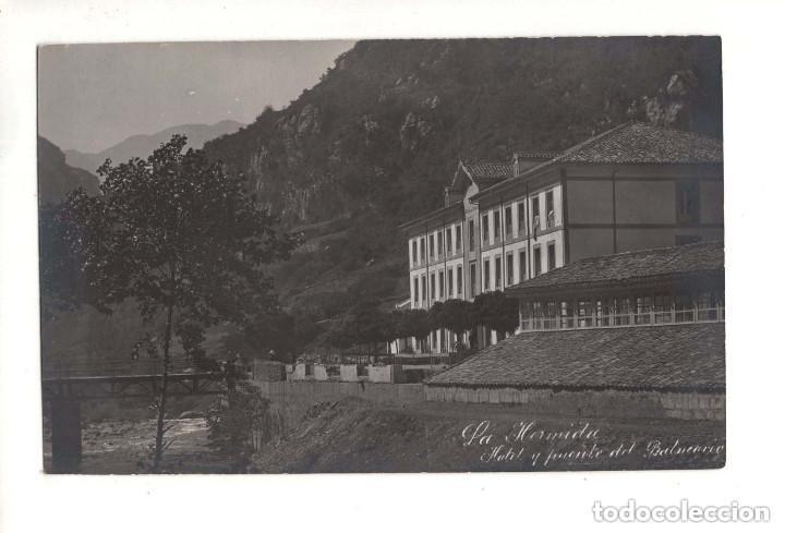 LA HERMIDA.(CANTABRIA).- HOTEL Y PUENTE DEL BALNEARIO. ALVARO FERNANDEZ-FOTOGRAFO (Postales - España - Cantabria Antigua (hasta 1.939))