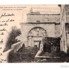 Postales: CALDAS DE BESAYA.(SANTANDER).- SANTUARIO DE CALDAS. FACHADA IGLESIA. Lote 146148182