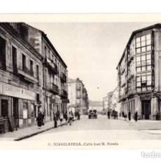 Postales: TORRELAVEGA.(CANTABRIA).- CALLE JOSE MARIA DE PEREDA. Lote 146148654